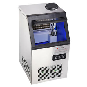 Lcd Display Undercounter Ice Maker Machine Restaurant Bar Home Air Cooled Cube