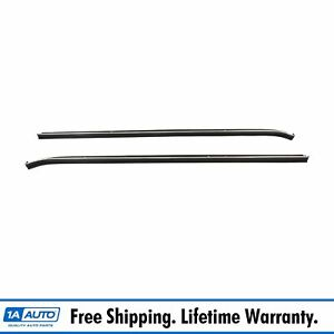 Front Outer Belt Weatherstrip Molding Lh Rh Side Pair For Chevy Monte Carlo