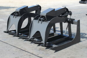 New 72 Root Grapple Attachment For Skid Steers W Cylinder Covers Made In Usa