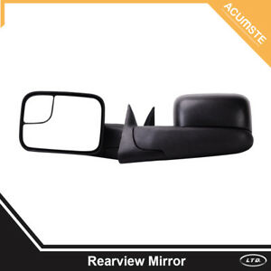 Pair Telescoping Manual Tow Mirror For 1994 2001 Dodge Ram 1500 2500 3500 Pickup