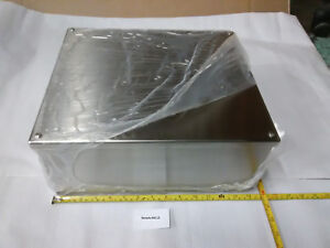 New Hoffman Stainless Steel 12 X 14 Type 4 4x Electrical Enclosure Box