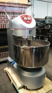 New Lp Group Vis r 120 120kg 265lb Industrial Spiral Dough Food Mixer Fixed Bowl