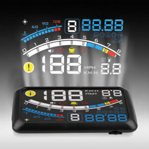 5 5 Hud Head Up Obd2 Car Off Road Dashboard Projector Speed Warning Speedometer