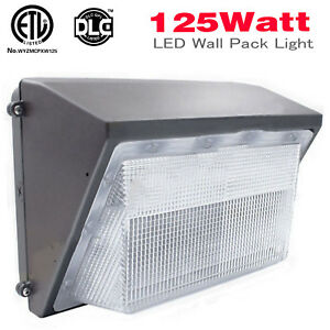 100w 125w Led Wall Pack With Dusk to dawn Photocell Outdoor Commercial Lighting