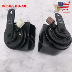 Oem 2pcs Tone Horn For Honda Accord For Acura Rl Tsx 38150sdba02 38100sdba02