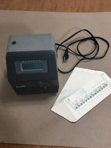 Acroprint 175 Timecard Reader Stamping Machine Time Clock With Timecards