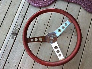 Vintage Red Medal Flake Steering Wheel 13 Rat Rod Gasser