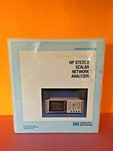 Hp Agilent 08757 90073 8757c 8757e Scalar Network Analyzer Operating Manual