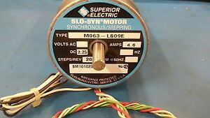 New Superior Electric M063 ls09e Synchronous Stepping Motor 4 6amps 2 25d