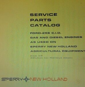 Ford 256 Diesel Gasoline Sperry New Holland Parts Manual 28pg Tractor 5500 5000