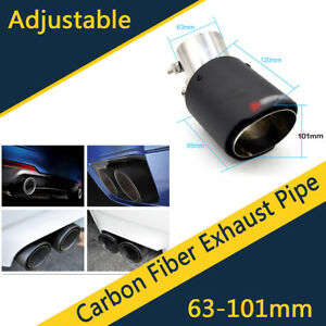 Universal Carbon Fiber Car Exhaust Pipe Modified For Ford Toyota Renault Opel