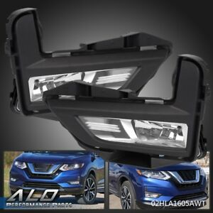 For 2017 2018 Nissan Rogue S Sl Sv Driving Bumper Pair Fog Lights With Bracket