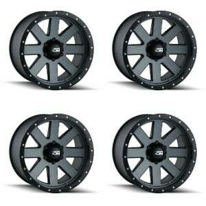 Set 4 20 Ion 134 Gunmetal Wheels 20x10 6x5 5 19mm Lifted Chevy Gmc 6 Lug Rims