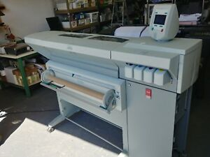 Oce Tcs 500 Large Wide Format Color Printer Plotter And Oce Tcs 500 Scanner