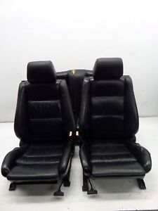 Bmw 318i 325i Convertible Black Leather Sport Seats E30 85 91 Oem Recaro