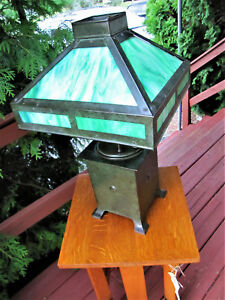 Antique Arts Crafts Table Lamp W4891 Stickley Era