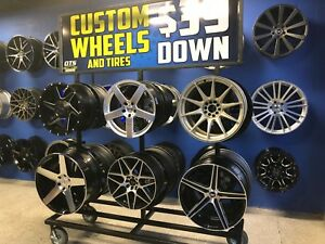 Wheel Wheels Rims Rack Display Store Fixture Portable Outdoor Custom Made