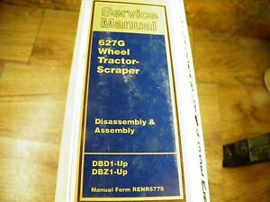Cat Caterpillar 627g Tractor Scraper Service Manual Dbd Dbz Disassembly Assembly