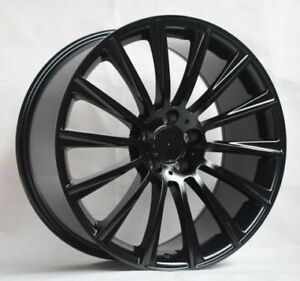 20 S63 Amg Style Gloss Black Wheels Rims Fits Mercedes Benz S430 S500 S550 S400