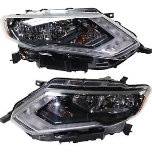 Headlight For 2017 2018 Nissan Rogue Pair Driver And Passenger Side