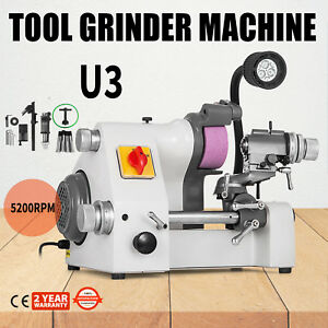 U3 Universal Tool Cutter Grinder Machine 5200rpm Drill Bits Double Bearing