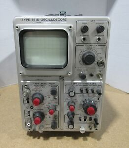 Tektronix 561s 2 Channel Oscilloscope 2 Trace Amplifier Time Base Power Tested