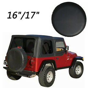 16 17 Black Car Spare Tire Tyre Wheel Cover For Jeep Liberty Wrangler Ue