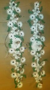 Pr Vintage Italian Country Floral Leaves Wrought Iron Wall Sconces 40 X 7 Decor