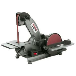 Jet 1 3 Hp Benchtop Belt Disc Sander Combination Cast Iron Tilting Table Tool