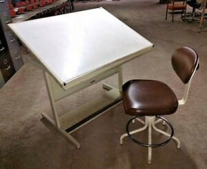 Smith Systems Drafting Art Studio Table Desk Environmental Products Epi Chair