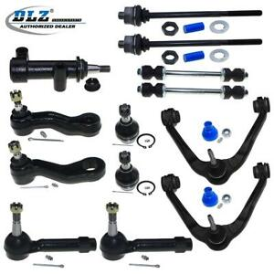 13pc Complete Front Suspension Kit Control Arm Tie Rods Set For Chevy gmc h2
