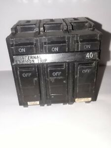 General Electric Thql32040 3 Pole 40 Amp Type Thql Circuit Breaker Nos