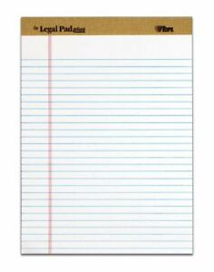 Tops The Legal Pad 71533 Notepad 50 Sheet Legal Ruled Letter 8 5 X 11