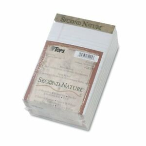 Tops Second Nature Recycled Pad 50 Sheet 18 Lb Jr legal 5 X 8 12