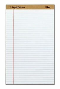 Tops The Legal Pad Plus Legal Rule White Perforated 50 Sh pd 12 71573
