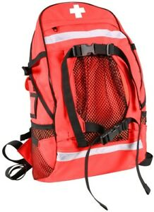 Red First Aid Red Cross Emt Ems Trauma Backpack Medical Equipment Bag