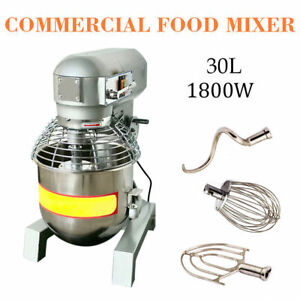 30qt Commercial Dough Mixer Food Blender Multifunction Gear Driven self Pick Up