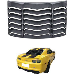 Matte Black Rear Window Louver Sun Shade Cover For 2010 2015 Chevy Camaro