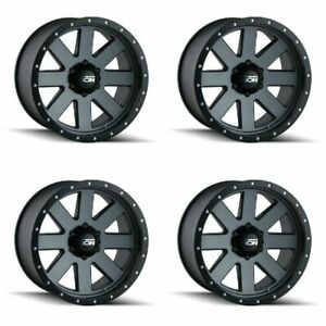 Set 4 17 Ion 134 Gunmetal Wheels 17x8 5 5x5 6mm Jeep Chevy Gmc 5 Lug Truck Rims