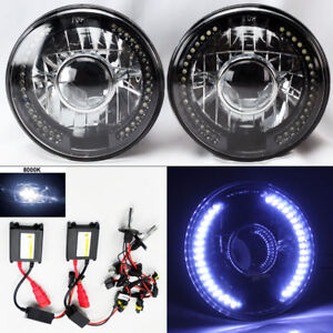 7 Round 8k Hid Xenon H4 Bk cm Projector Led Drl Glass Headlight Conversion Dod