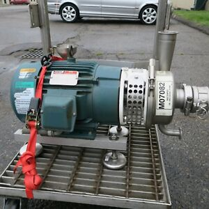 10 Hp Ss Sanitary Centrifugal Pump 3 X 3 Apv W30 50 230 460 3 Phase