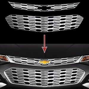 Fits Chevrolet Cruze 2016 18 Chrome Snap On Grille Overlays Grill Covers Inserts