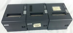 Lot Of 3 Epson Tm t88iv Pos Receipt Printer M129h Parallel no Adapters
