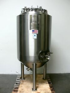 Precision 500 Liter Stainless Steel Jacketed Reactor 50psi Vessel 150psi Jacket