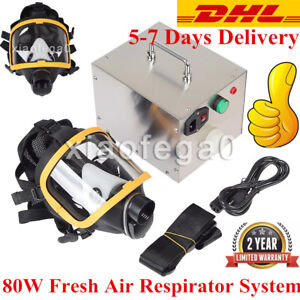 80w Constant Flow Airline Supplied Fresh Air Respirator System Fullface Gas Mask