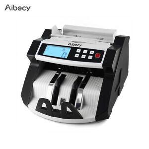 Bank Note Currency Counter Uv mg Detector Money Fast Auto Counting Machine N8g8