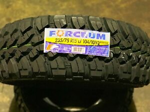 2 X Lt235 75r15 Forceum Mt 08 Mud Terrain New Tires Lrc 6pr 235 75 15 Bsw