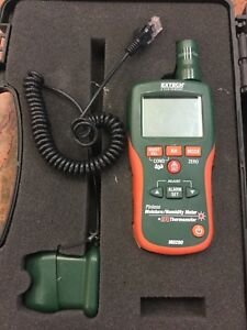 Extech Mo290 Pinless Moisture Meter With Probe And Case
