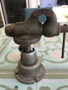 Vtg Wilton Baby Bullet Vise With Powerarm Junior Working Condition