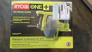 Ryobi Drain Auger 18v Battery Operated Cordless Snake Plumbing Power Tool Only